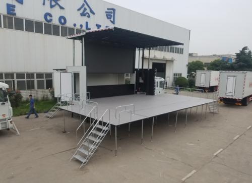 上海7.6m单侧开舞台车